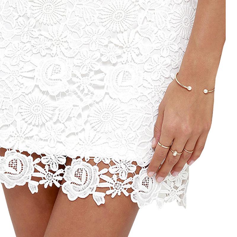 2048e1dcf3 Berydress Womens Elegant Wedding Party Sexy Night Club Halter Neck  Sleeveless Sheath Bodycon Lace Dress Short
